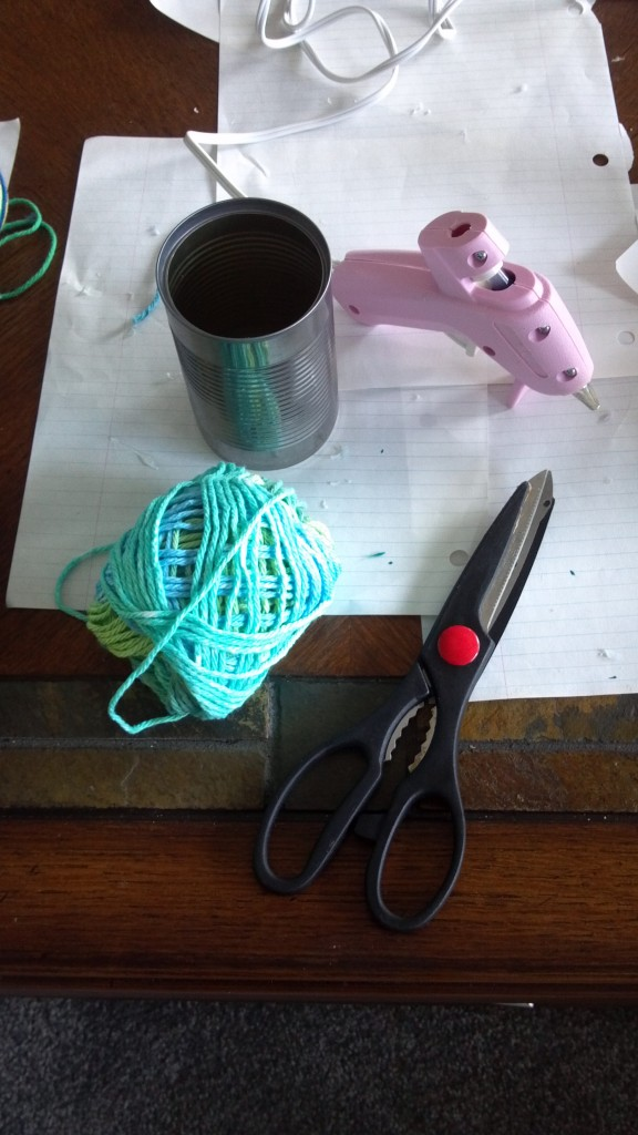 Soup can yarn project
