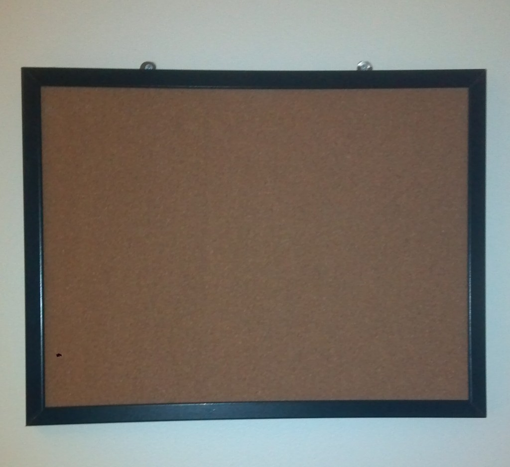 Do it yourself jewelry corkboard project