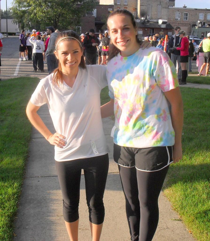 running a 5k race