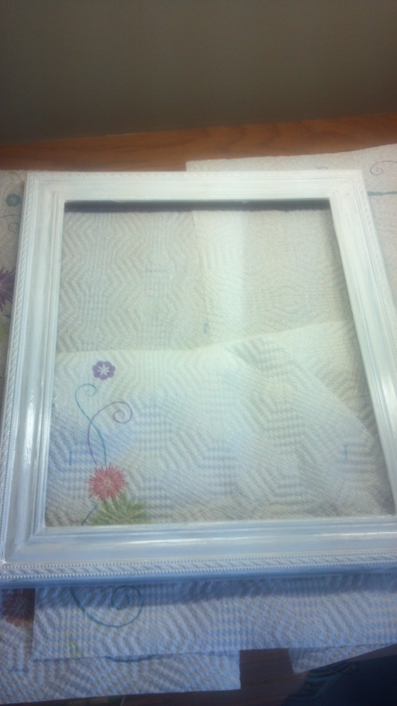 painted white picture frame