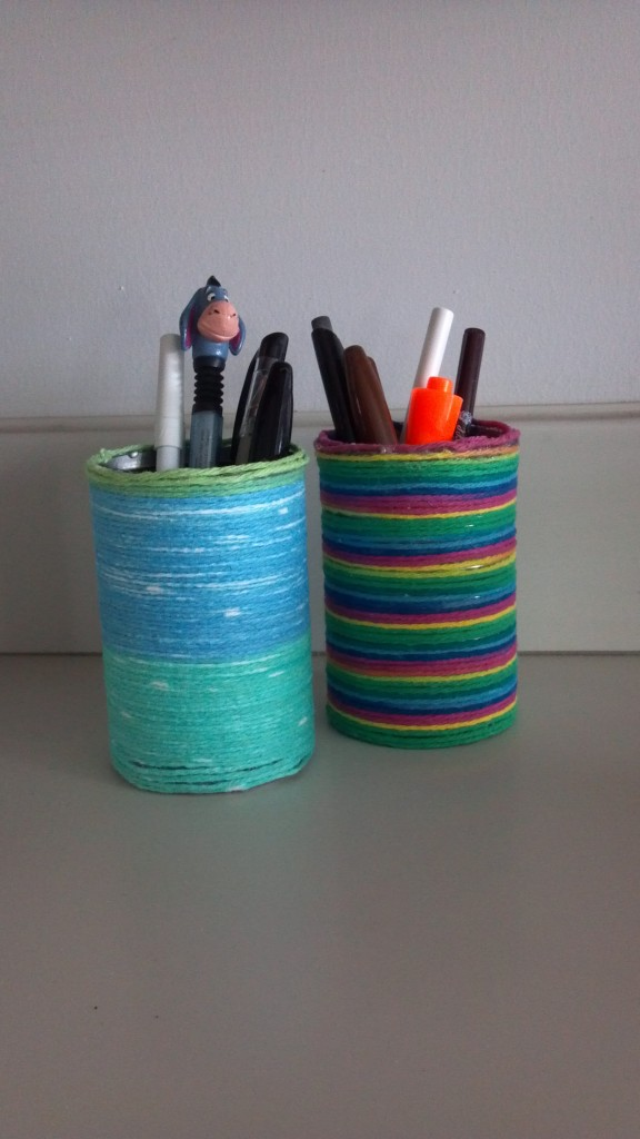 Soup cans yarn do it yourself project