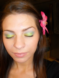 bright eye shadow