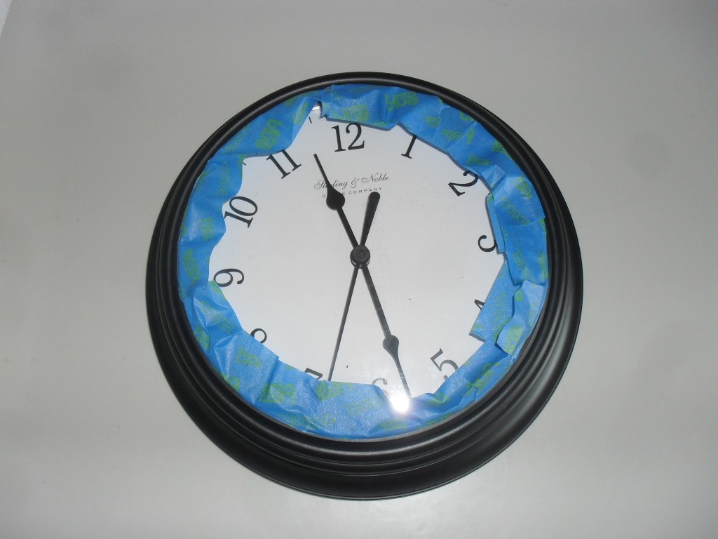 spray paint a clock project