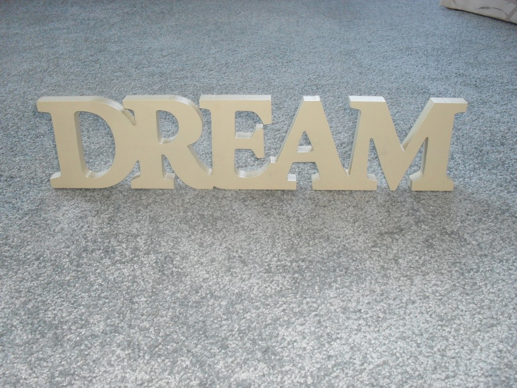 wooden glitter spray painted sign