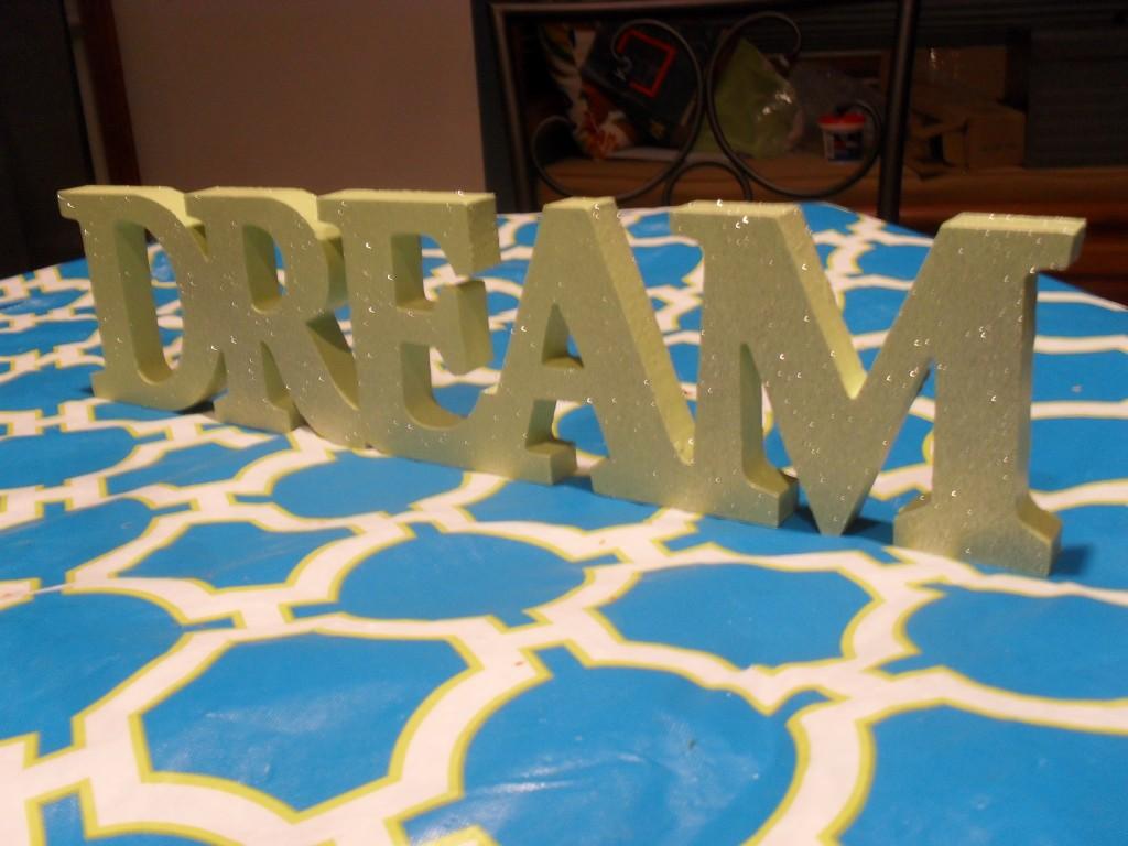 glitter dream sign project