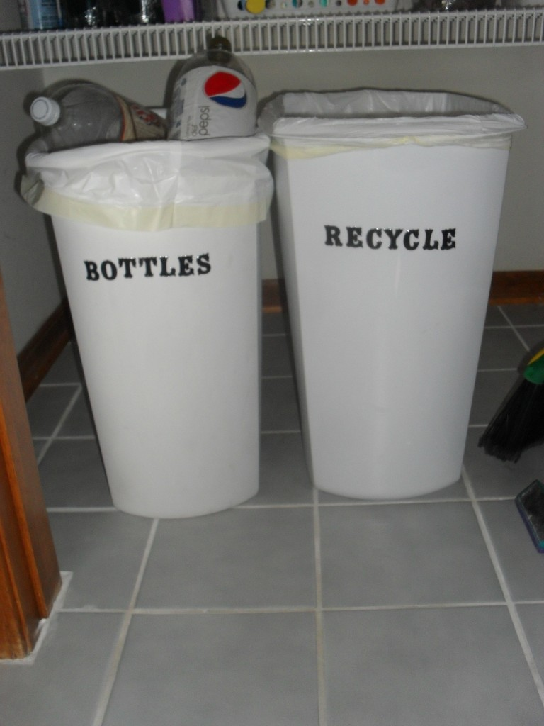 label plastic bins with stickers