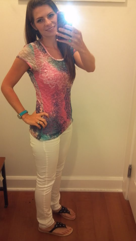 American Eagle white skinny jeans