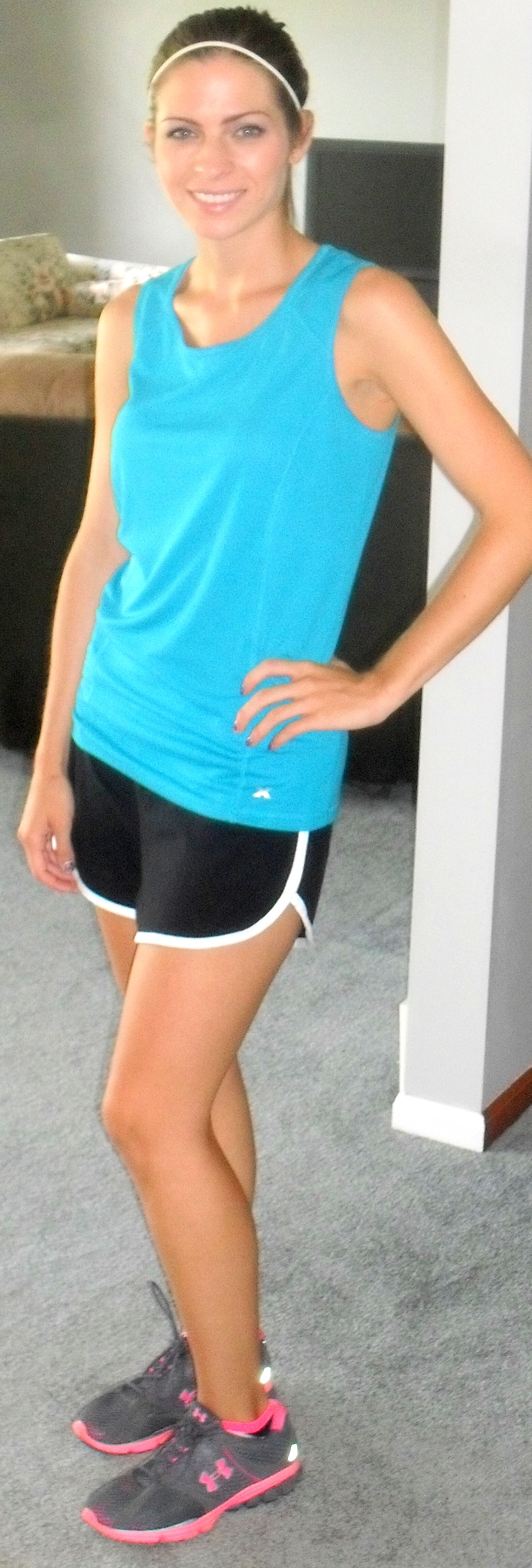 Workout running outfit