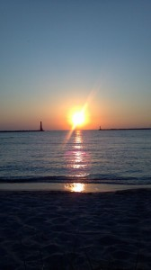 Sunset at Muskegon Pier Michigan