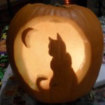 *Cat Pumpkin Carving Template*