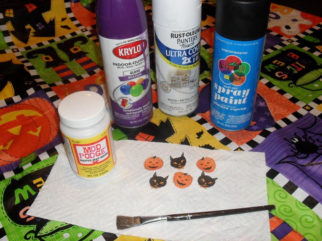 modge podge halloween craft