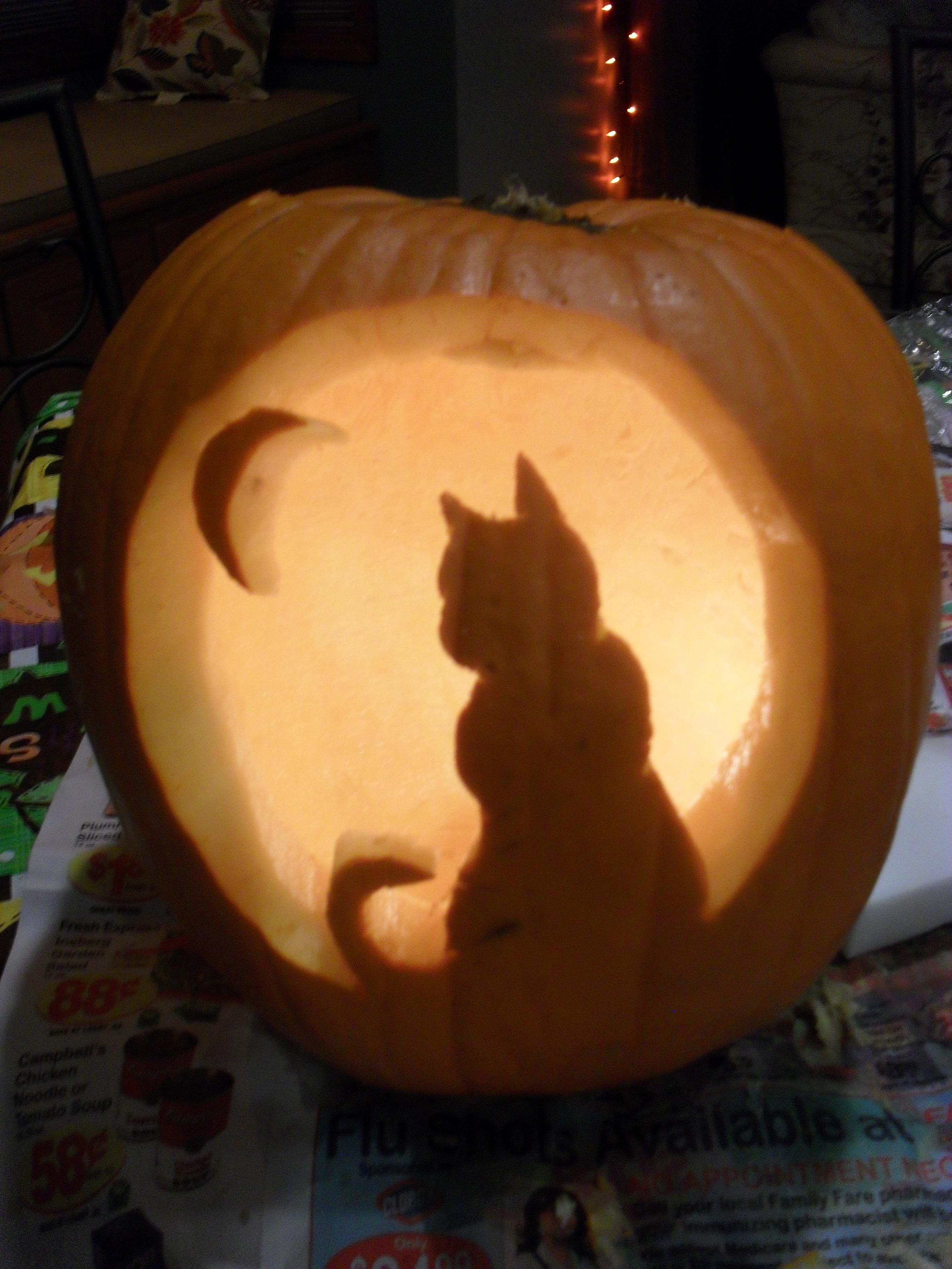 Cat Pumpkin Carving Template Tasteful Space