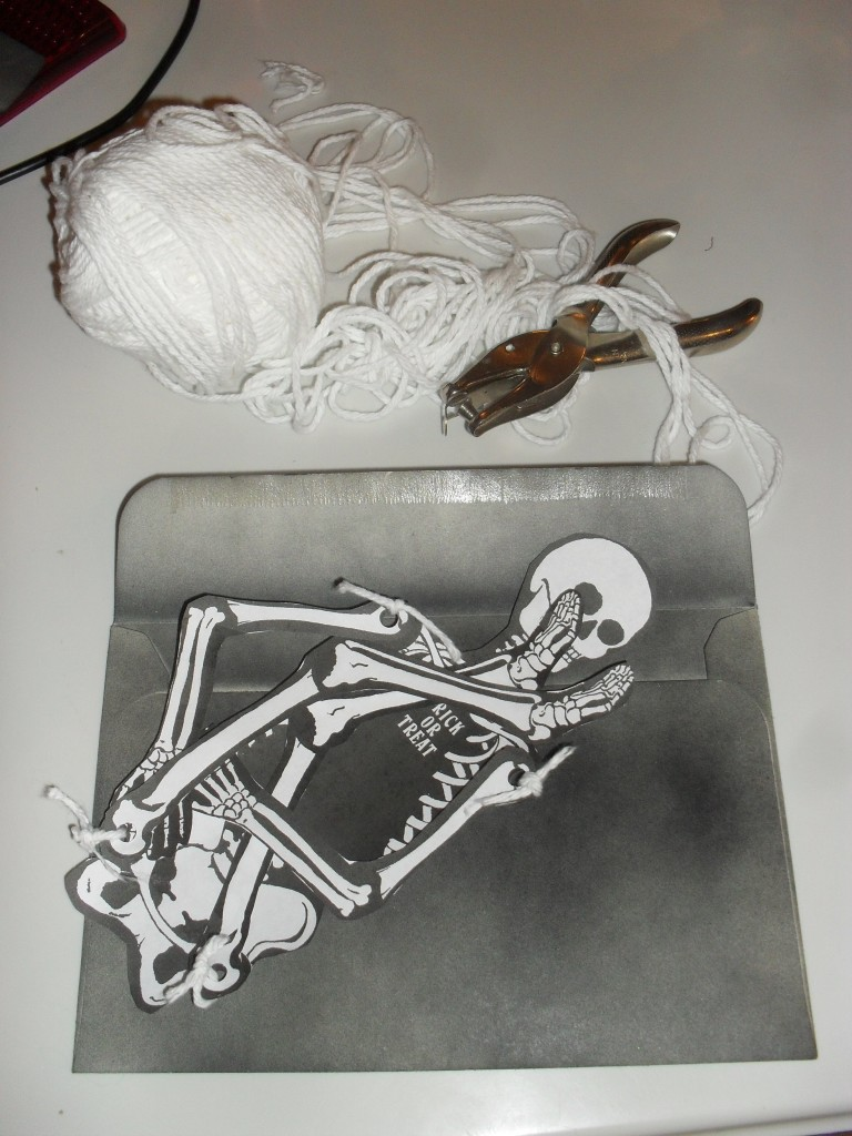 skeleton halloween invitations