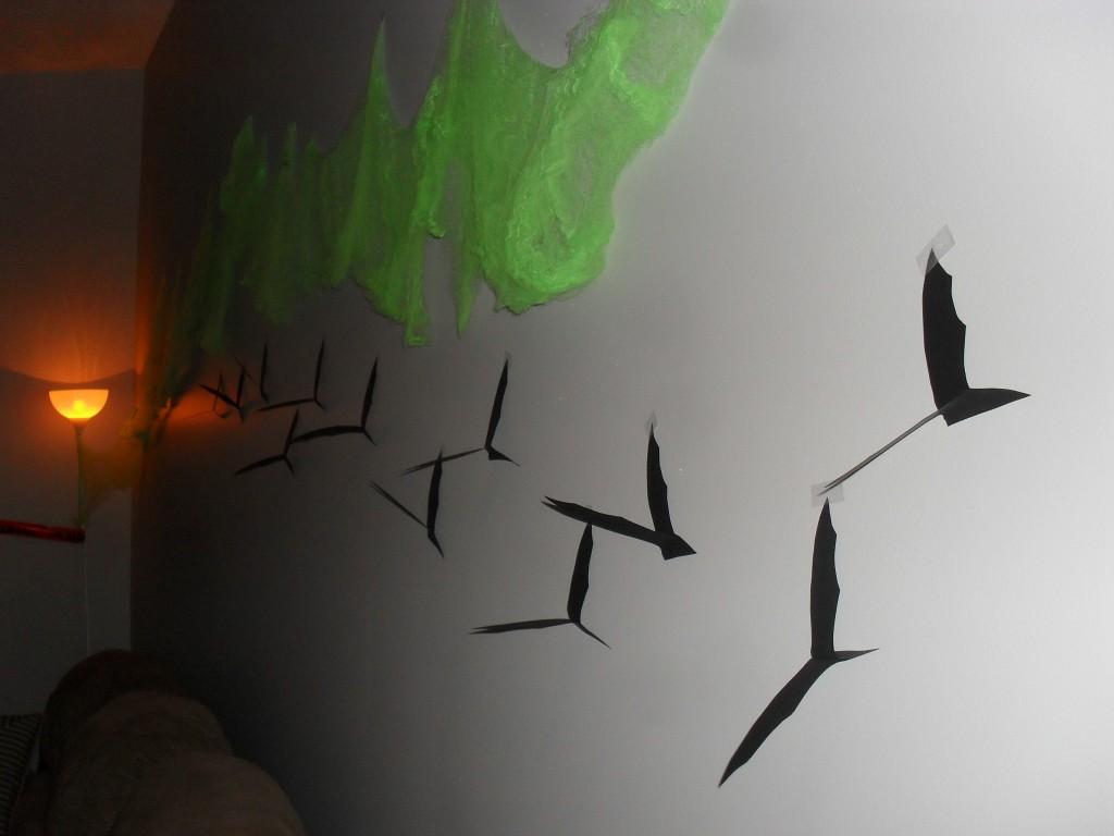 bat wing halloween decorations