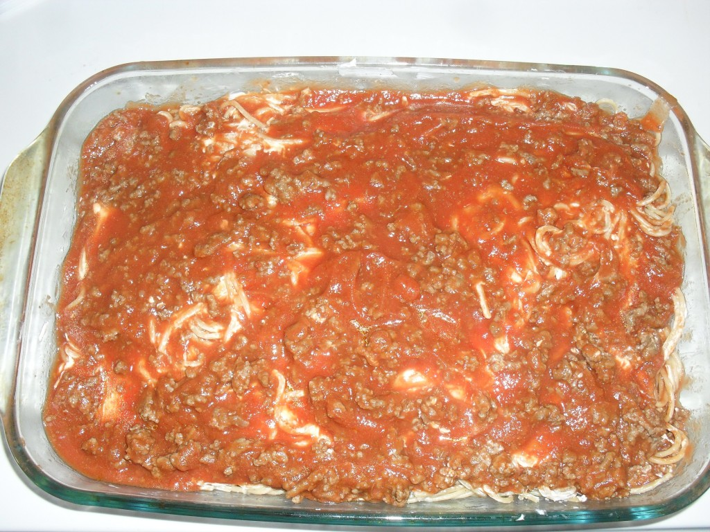 easy ingredient baked spaghetti recipe