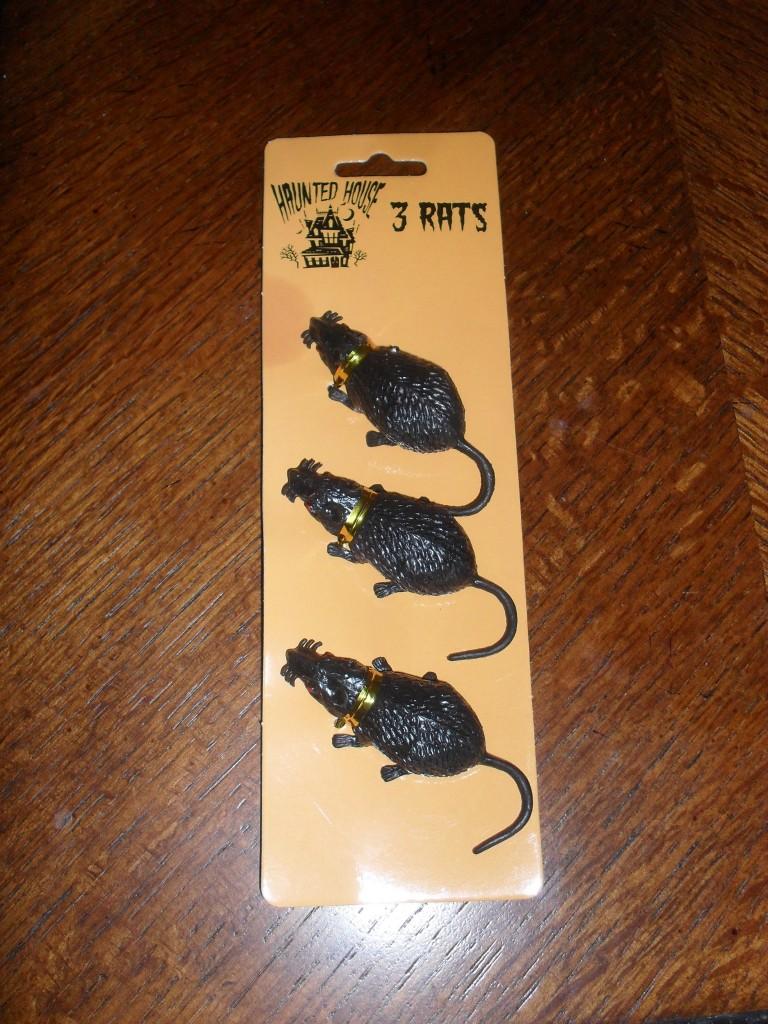 Dollar Tree Halloween Rats