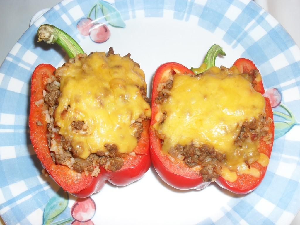 stuffed bell pepper ground been recipe