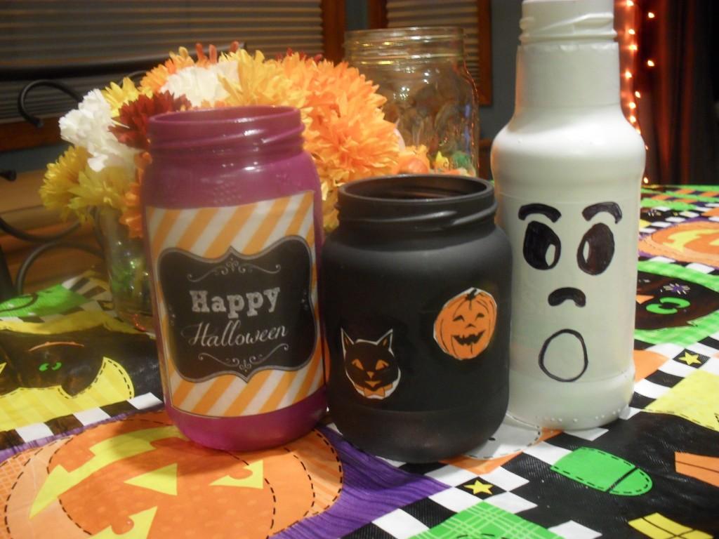 mason jars for halloween