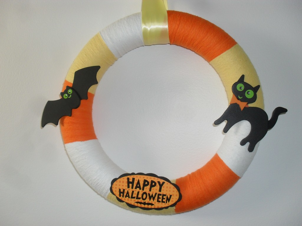 make your own candy corn halloween wreath