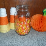 *Mason Jar Candy Corn Candle*