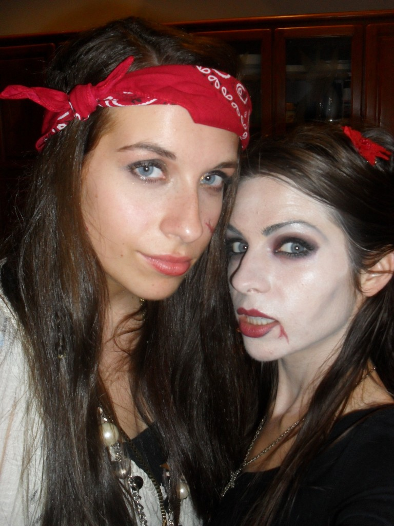 pirate and vampire costume