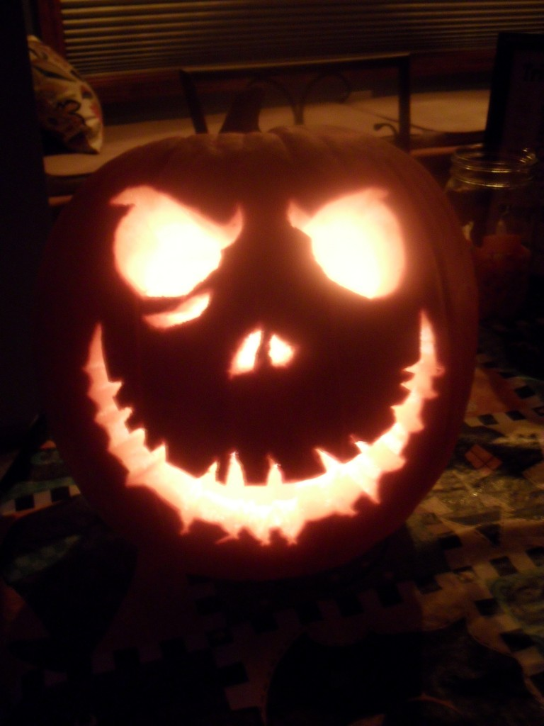 jack skellington pumpkin template