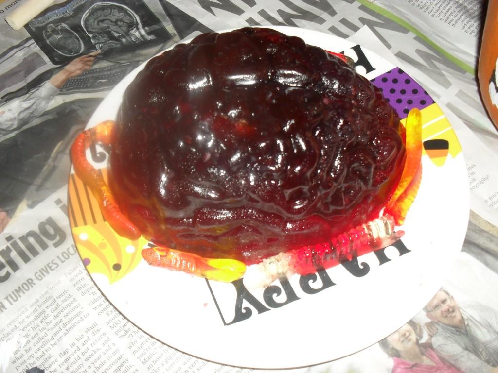 halloween jello brain mold