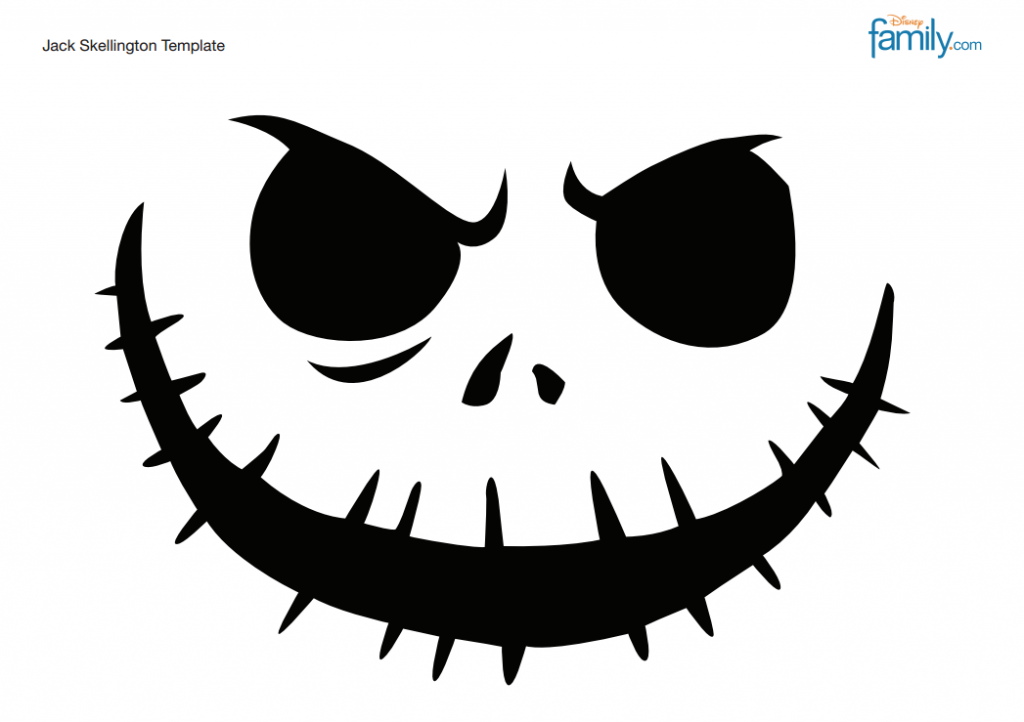Happy halloween tasteful space for Jack skellington face template