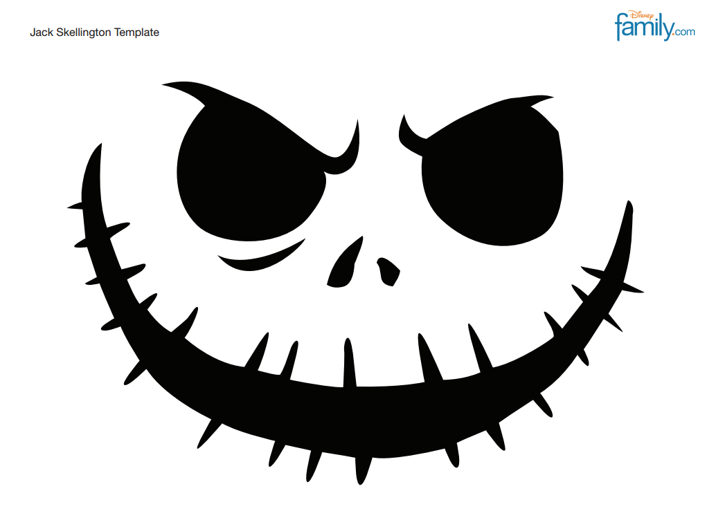 Happy halloween tasteful space for Pumpkin carving patterns printable jack skellington