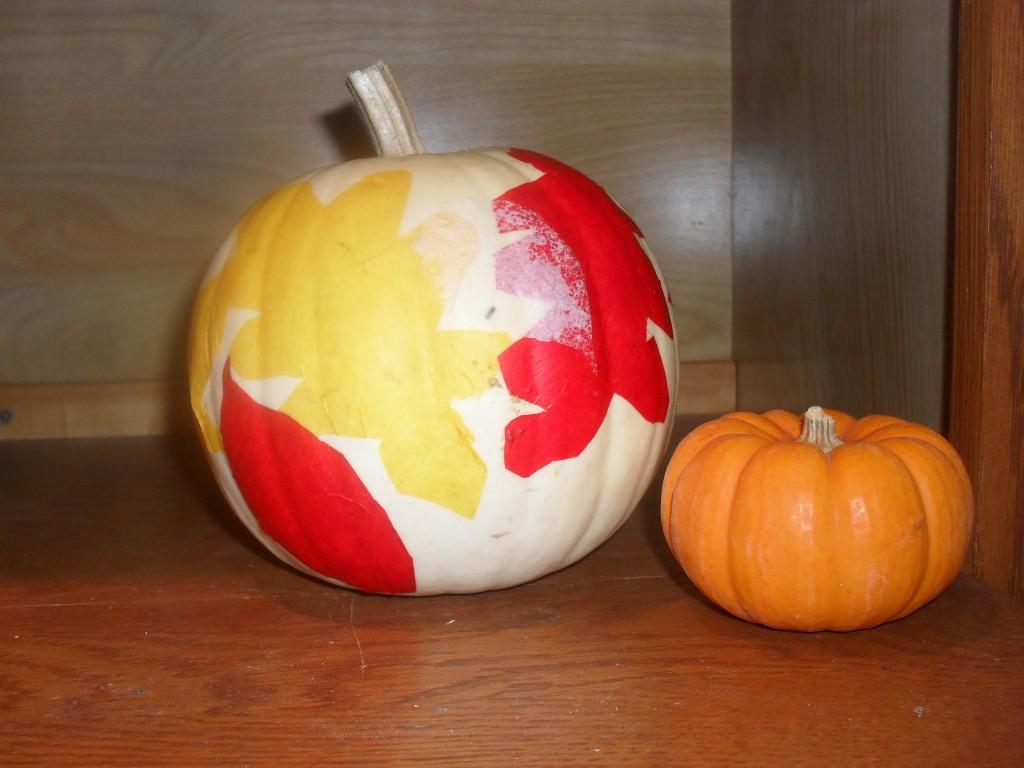 *Tissue-Paper Leaf Pumpkin*