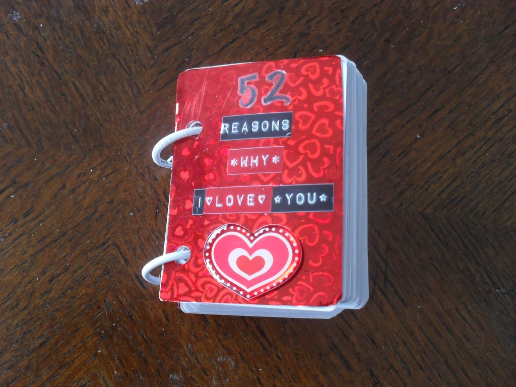 I Love You Crafts 52 Reasons Why I Love You Tasteful Space