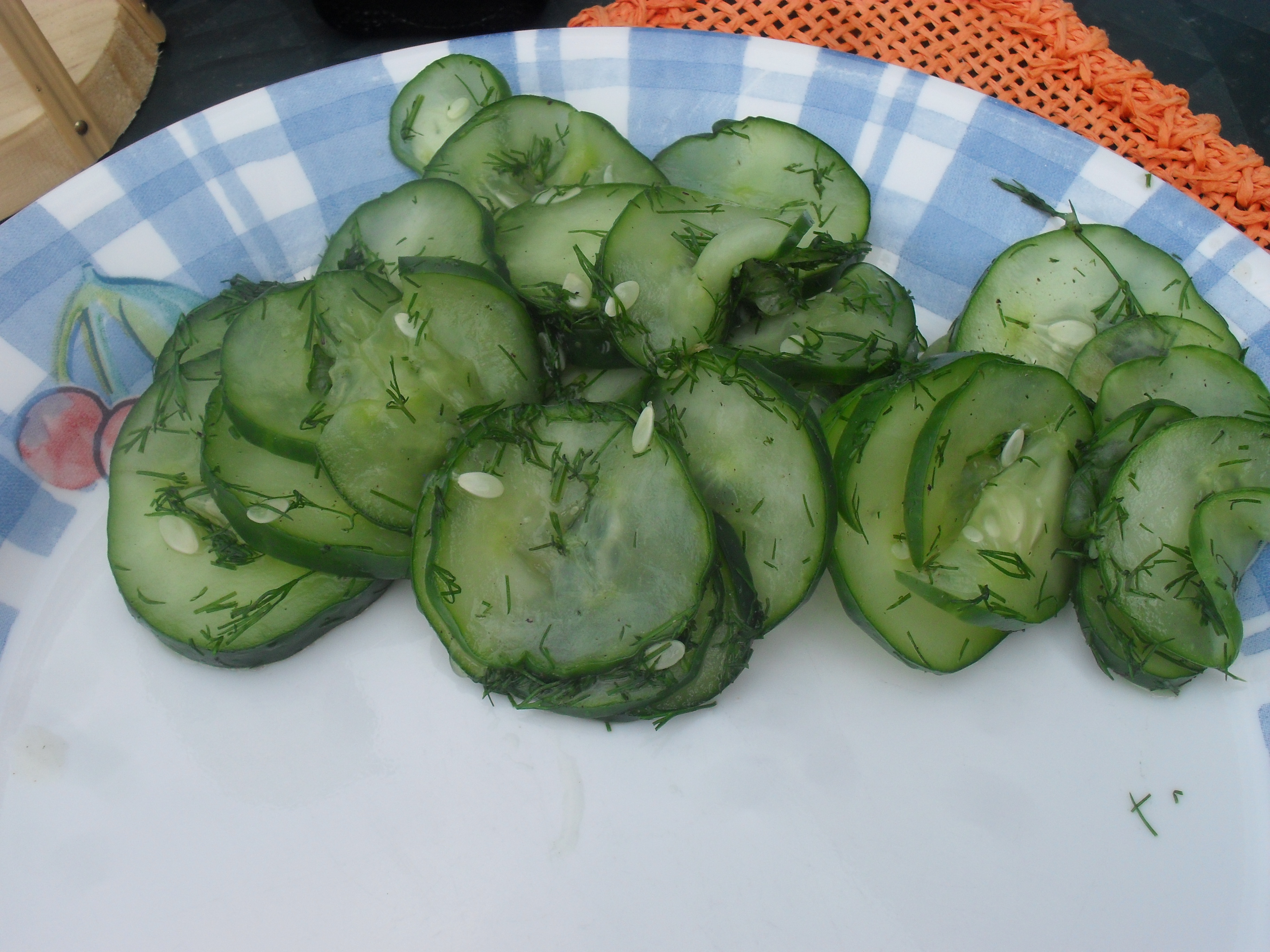 Sweet Cucumber Salad