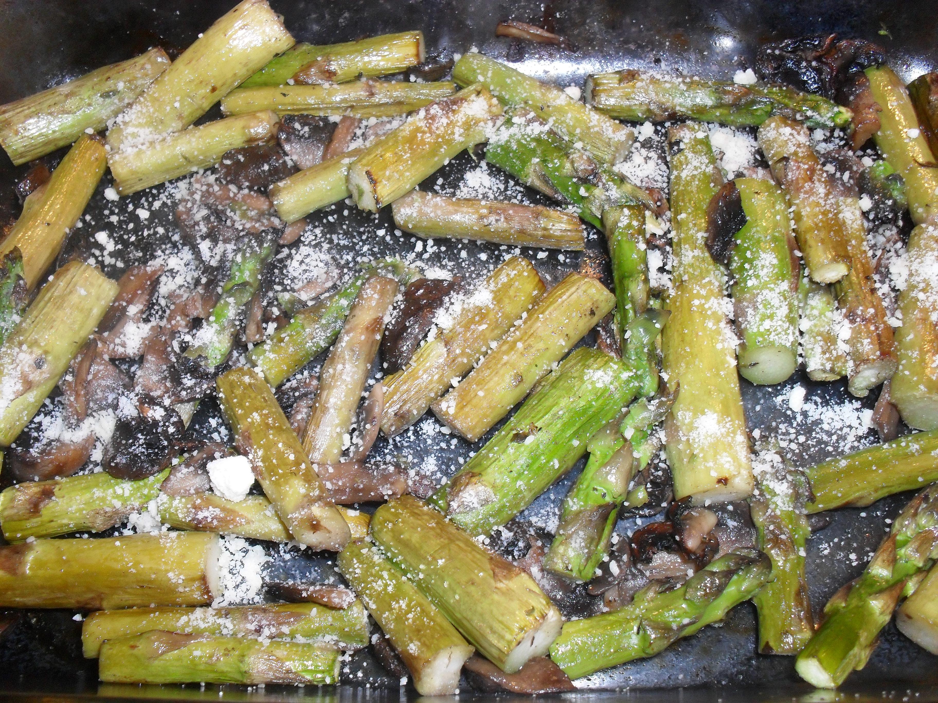 Mushroom Roasted Asparagus