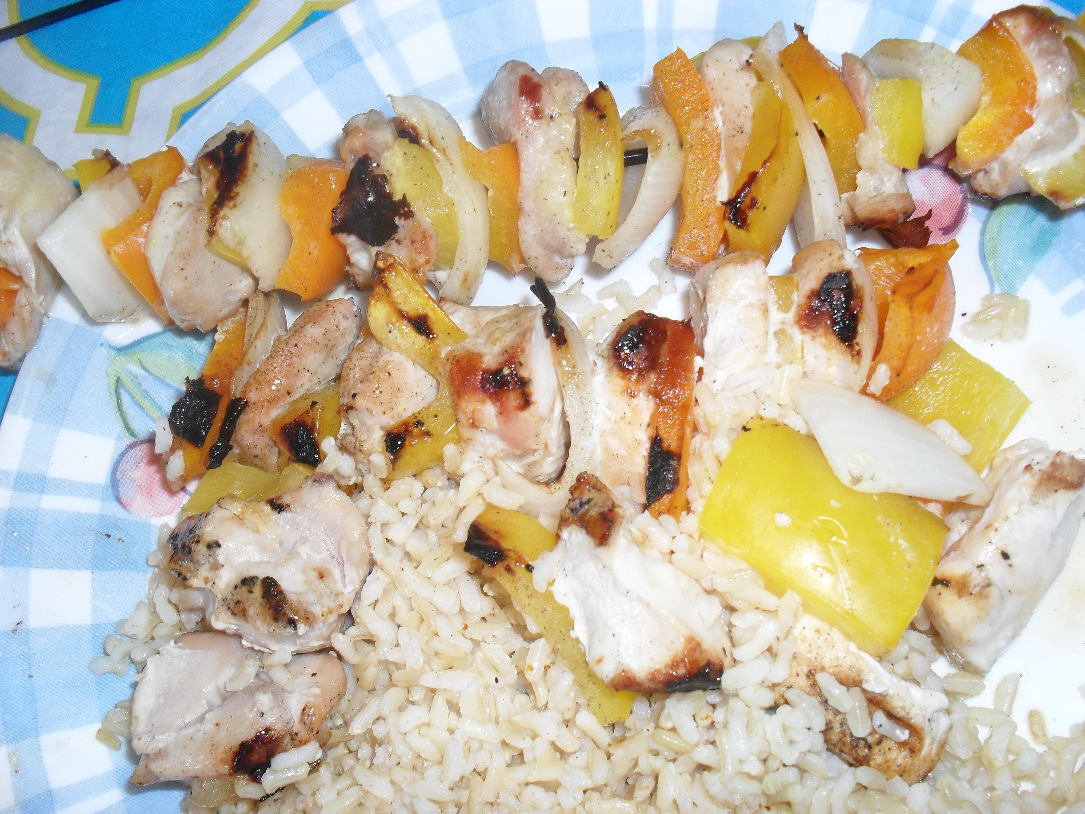 Grilled Chicken Ka-Bobs