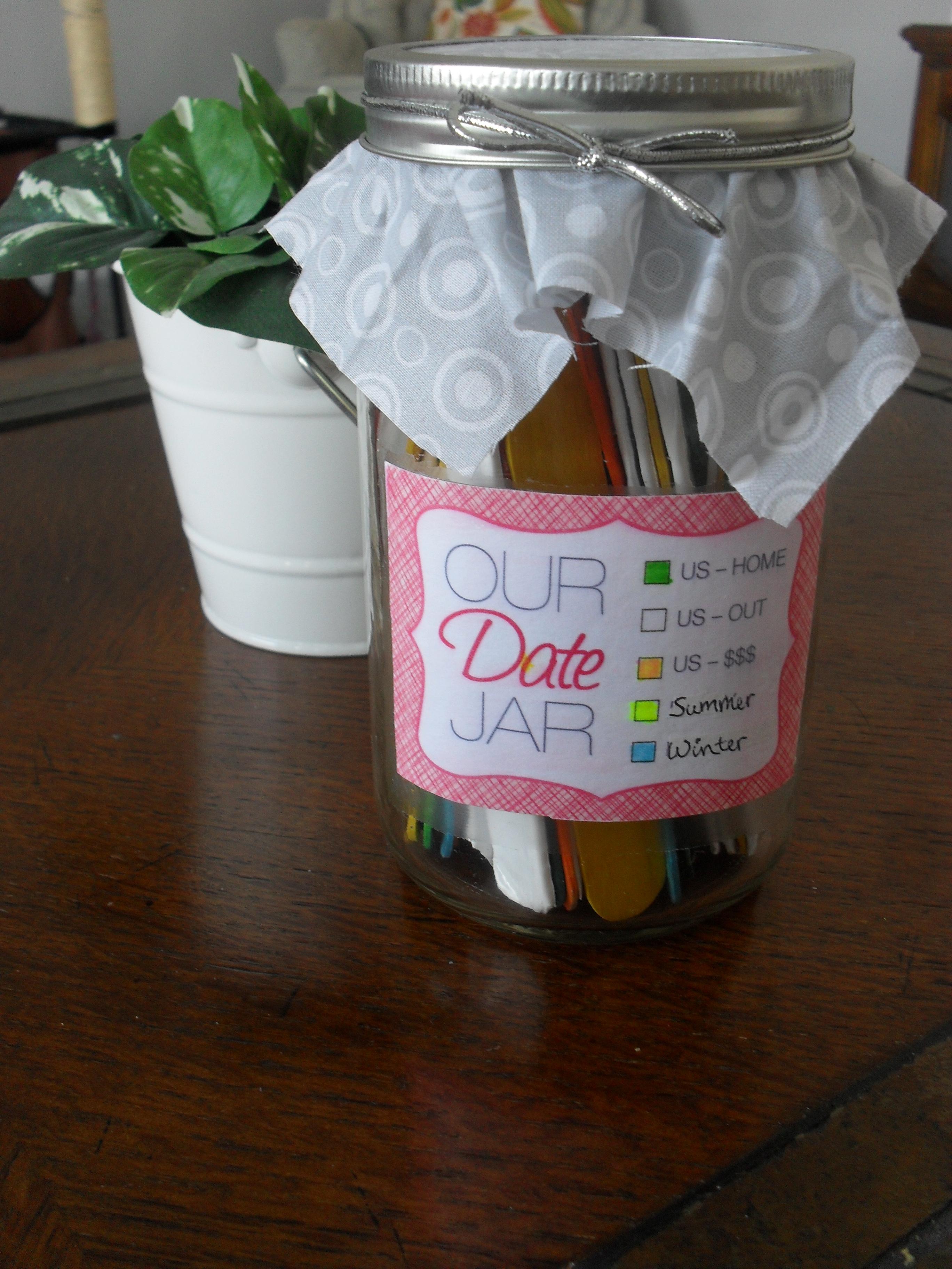 Date night jar in Perth
