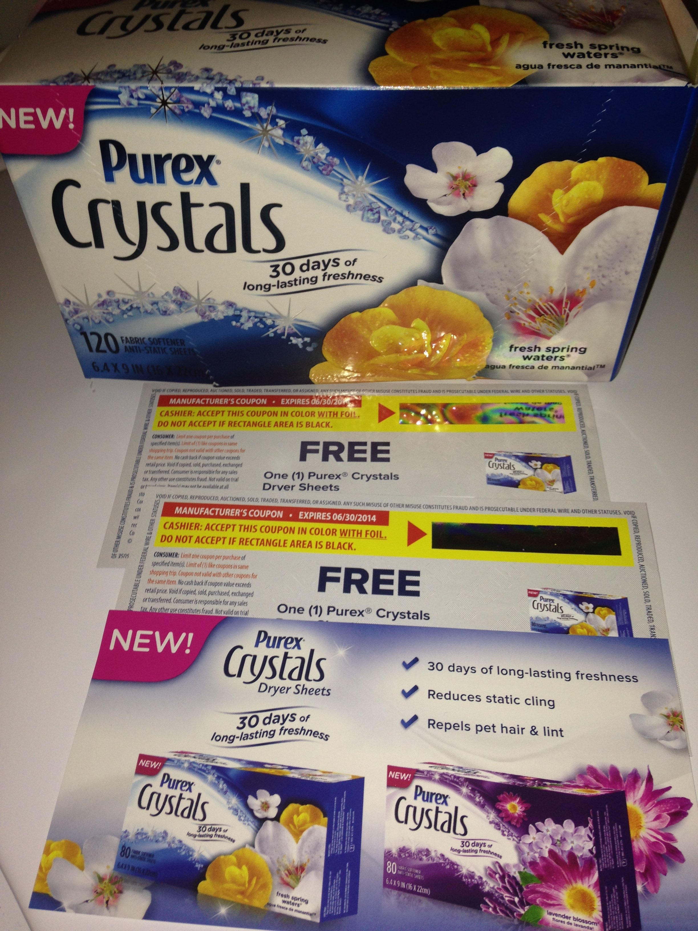 Purex Crystals Dryer Sheet Giveaway & WIN $500!