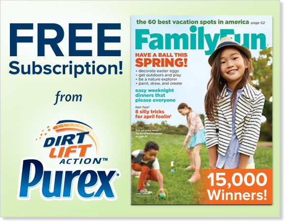 Family Fun Magazine Giveaway from Purex!