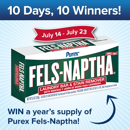 Fels-Naptha: 10 Days, 10 Winners Giveaway!