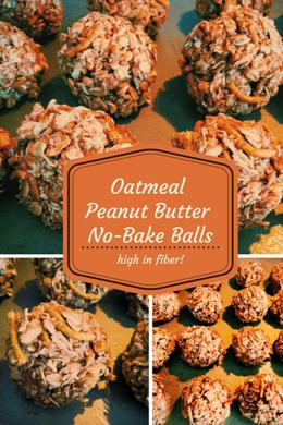 Oatmeal Peanut Butter No-Bake Balls
