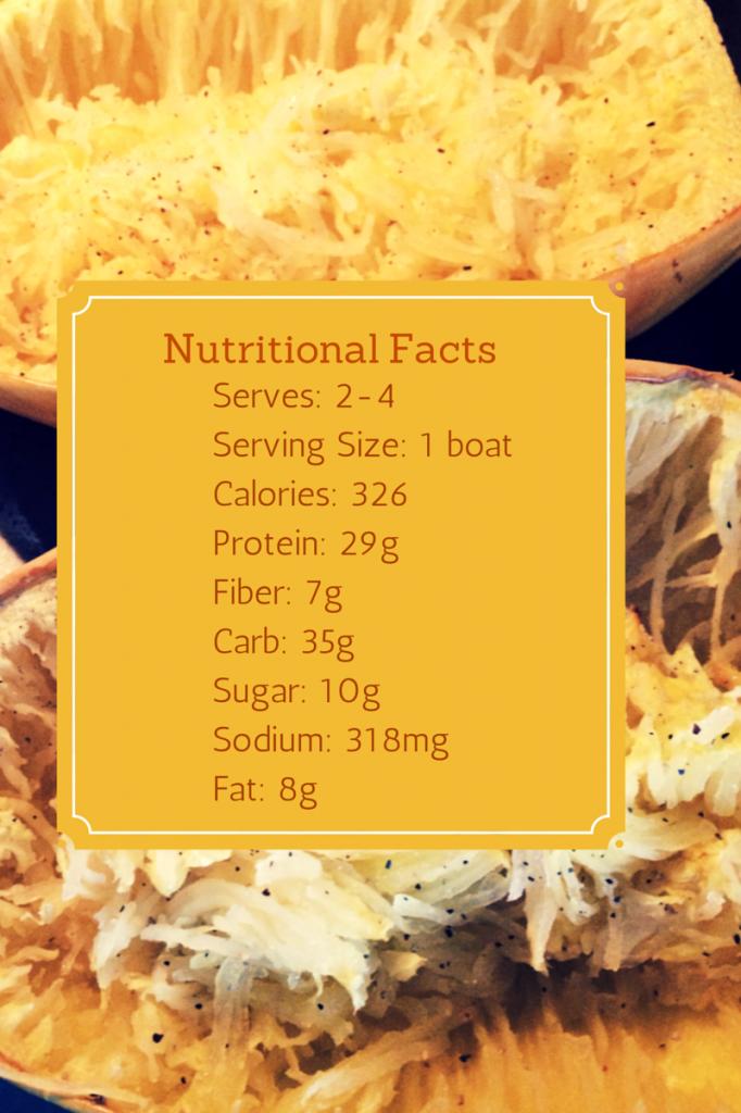 Spaghetti Squash Nutrionals
