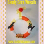 Make a Candy Corn themed wreath this Halloween! Search 'Candy Corn Wreath!'