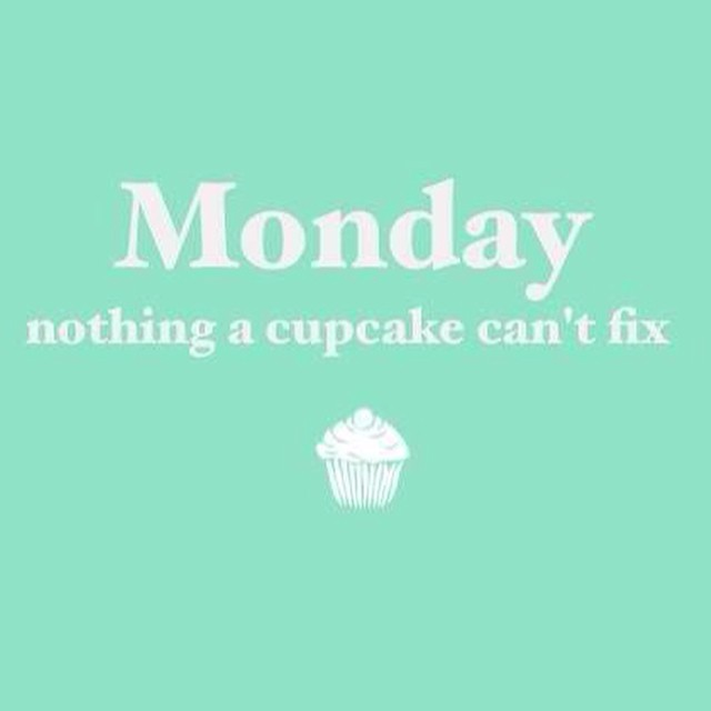 A cupcake on a Monday…yes please!