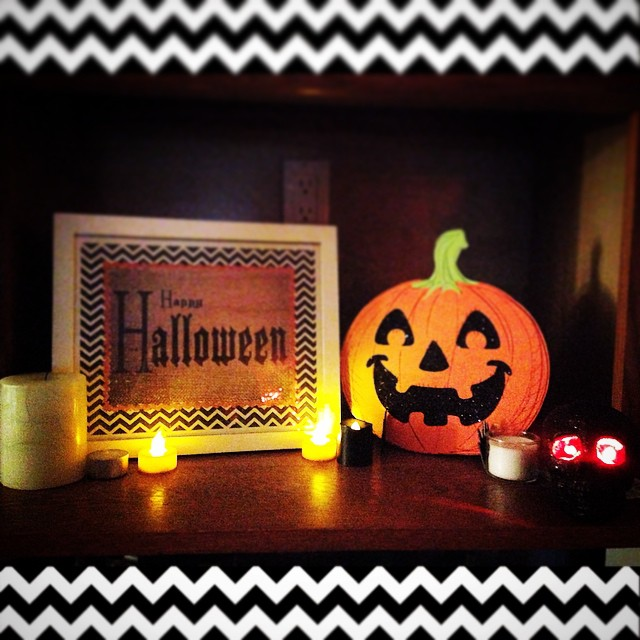 The Halloween decorations are up! Did you decorate this weekend?