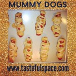 Mummy Dogs are a fun hands on/kid friendly food for Halloween! Search 'Mummy Dogs' for the recipe!