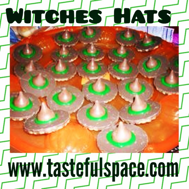 "Make ""Witches Hats"" this weekend for a perfect no-bake treat! Search ""Witches Hats"" for the recipe!"