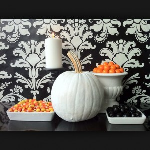 Black, white, and orange are a great color combination for the fall season