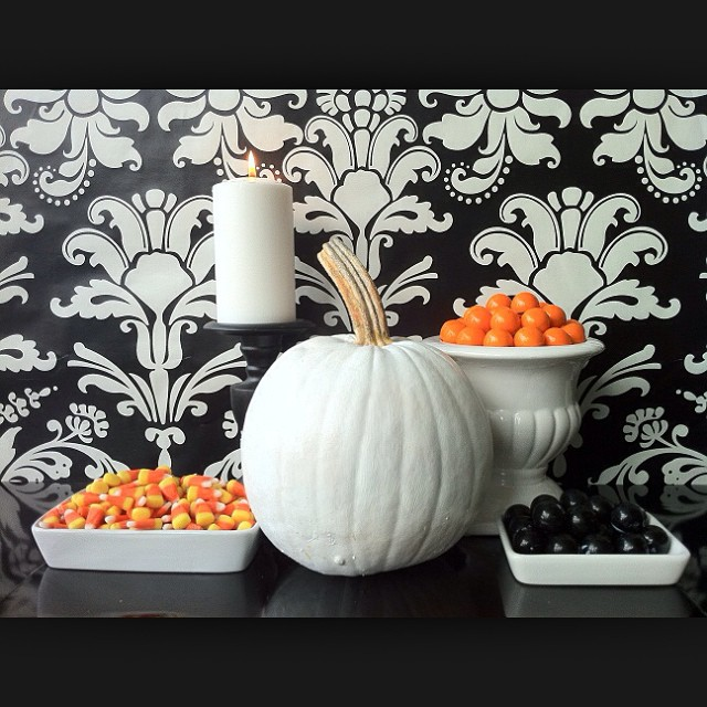 Black, white, and orange are a great color combination for the fall season!