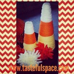 Candy Corn Cones are fun and easy to make for a Thanksgiving centerpiece!