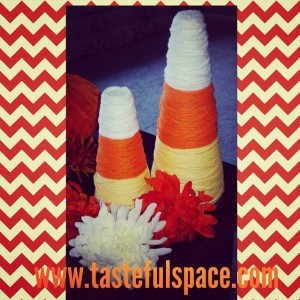 Candy Corn Cones are fun and easy to make for a Thanksgiving centerpiece