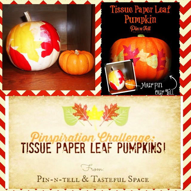 Did you make the Tissue Paper Leaf #pinspirationchallenge